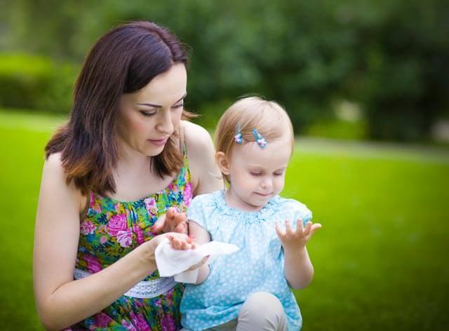 Baby-Feuchttücher-Test