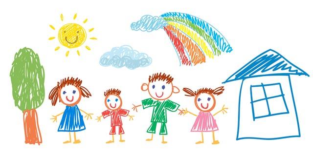Gemeinsam-malen-Kinderzeichnung
