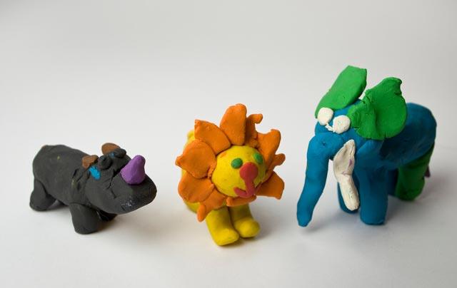 Knetfiguren aus Plastilin
