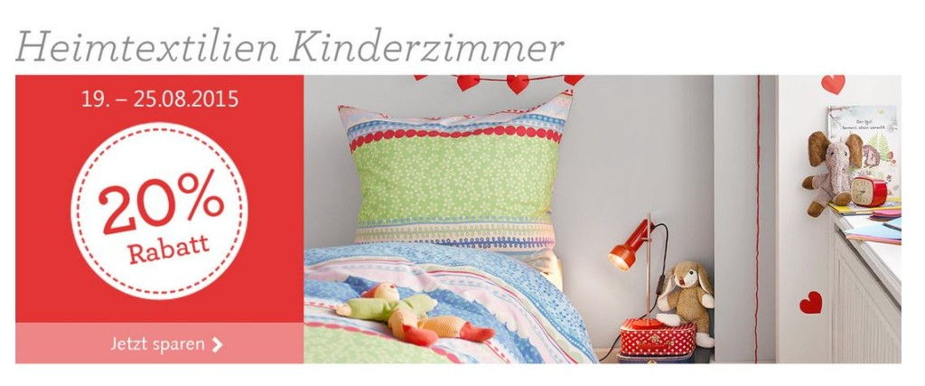 hessnatur: 15 % Rabatt auf Heimtextilien Kinderzimmer