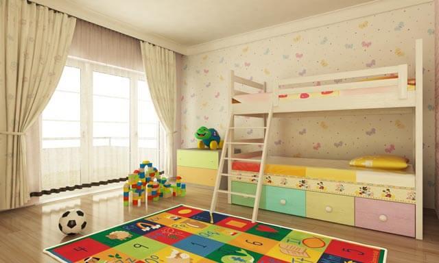 Kinderbett bzw. Stockbett mit Stauraum